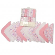 GP-25-1057P: Baby Wash Cloths 12-Pack - Pink