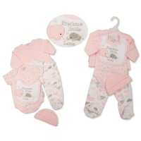 GP-25-1084: Baby Girls Quilted 5 Piece Gift Set - Precious Little Love (NB-6 Months)