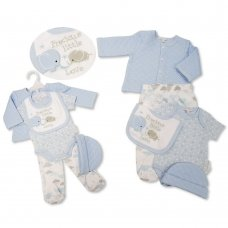 GP-25-1085: Baby Boys Quilted 5 Piece Gift Set - Precious Little Love (NB-6 Months)