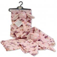 GP-25-1087: Baby Girls Bunny Comforter & Blanket