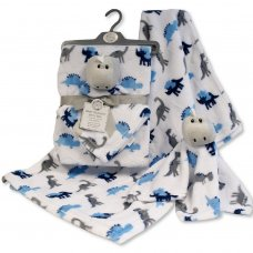 GP-25-1088: Baby Boys Dinosaur Comforter & Blanket