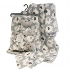 GP-25-1089: Baby Unisex Elephant Comforter & Blanket