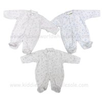 HB02: Premature Baby Velour Sleepsuit