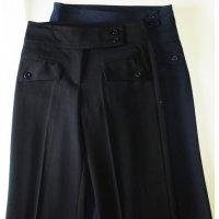Double belt, zip front, Flap Pocket School Trouser - Black