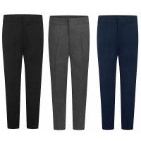 Boys School Zip & Clip Teflon Trousers - Black