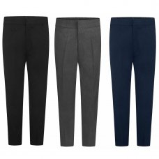 Boys School Zip & Clip Teflon Trousers - Navy