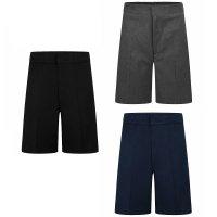 Boys School Zip & Clip Teflon Shorts - Navy