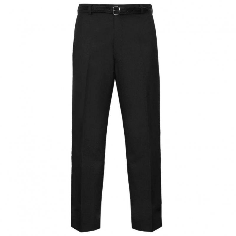 Everpress Straight Leg Formal Trousers with Belt - Black - Leg 31