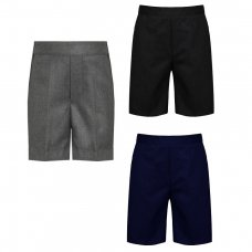 Boys School Pull Up Teflon Shorts - Grey