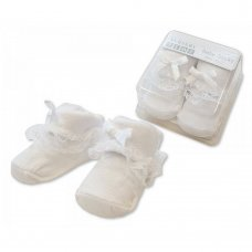 BW-6115-2112: Baby Lace Socks in Box - White