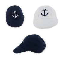 0205: Baby Boys Anchor Embroidered Cap (0-6 Months)