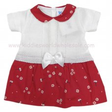 MC408: Baby Girls Floral Dress With Bow (0-9 Months)