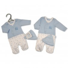 PB-20-352: Premature Baby Boys Faux 2 Piece Set with Hat - Little Love