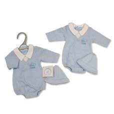 PB-20-355: Premature Baby Boys Romper with Hat - Little Love