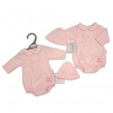 PB-20-361: Premature Baby Girls Romper with Hat - Little Love