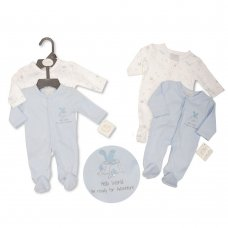 PB-20-377S: Premature Boys Sleepsuit 2-Pack - Hello World