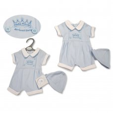 PB-20-527: Premature Baby Boys Romper with Hat - Baby Prince