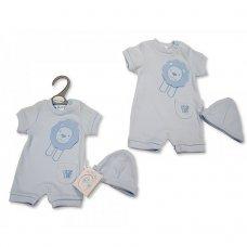 PB-20-540: Premature Baby Boys Romper with Hat - Little Lion