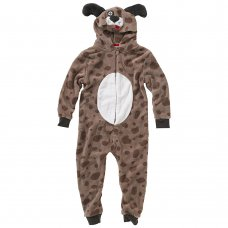 0233901IN: Infants Puppy Fleece Onesie (2-6 Years)