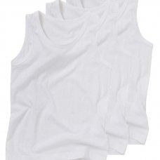 1303501: Boys 3pk Plain Vests (2-10 Years)