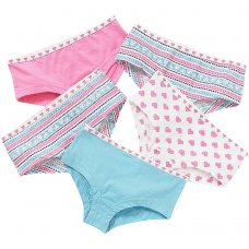 1304801: 5 pack Printed Girls Hipster Shorts (7-13 Years)