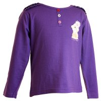 22085L: Girls Lilac Fizzy Moon Top (2-6 Years)