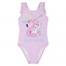 09C032: Infant Girls Frill Print Swimsuit (2-6 Years)