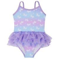 09C034: Infant Girls Unicorn Print Tutu Swimsuit (2-6 Years)