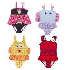09C035: Infant Girls Novelty Print Swimsuit (2-6 Years)