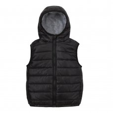 09C042: Infant Boys Hooded, Quilted Gilet (2-6 Years)