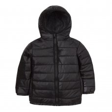 09C043: Infant Boys Quilted Jacket With Fur Lined Hood (2-6 Years)