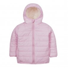 09C044: Infant Girls Quilted Jacket With Fur Lined Hood (2-6 Years)