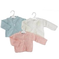 MC855B: Knitted Baby Cardigan (0-12 Months)