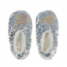 100C003: Infant Girls Sparkling Sequin Slippers (Kids Shoe Sizes: 5-9)
