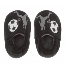 100C005: Infant Boys Football Slippers (Kids Shoe Sizes: 4-10)