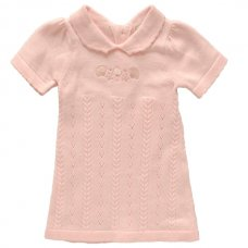 1058A: Baby Girls Cotton Knitted Dress (0-9 Months)