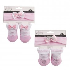 10C102: Baby Little Princess Headband & Sock Set (0-12 Months)