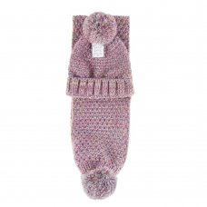 10C163: Girls Chunky Knit Hat & Scarf Set (3-13 Years)
