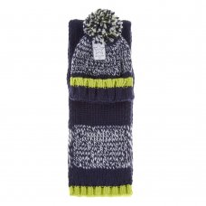 10C164: Boys Chunky Knit Hat & Scarf Set (3-13 Years)