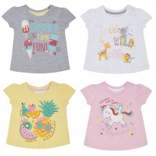 11C115: Baby Girls Printed T-Shirts (0-24 Months)