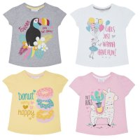 11C116: Infant Girls Printed T-Shirts (2-6 Years)