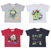 11C117: Baby Boys Printed T-Shirts (0-24 Months)