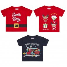 11C120: Assorted Babies Christmas T-Shirts (3-24 Months)