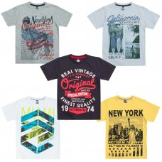 11C099: Older Boys Printed T-Shirts (7-13 Years)