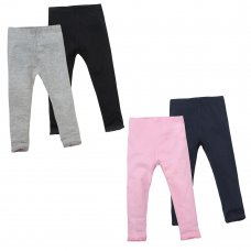 12C116: Infant Girls 2 Pack Leggings (2-6 Years)