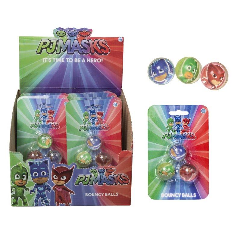 1384109: PJ Masks 3 Pack Bouncy Ball