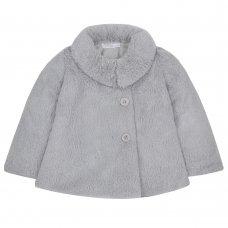 15C367: Infant Girls Grey Cuddle Fur Coat (2-4 Years)