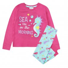 15C455: Infant Girls Seahorse Pyjama (2-6 Years)