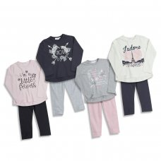 15C262: Infant Girls Assorted Prints Top & Legging Set (2-6 Years)