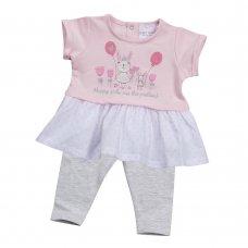 15C271: Baby Girls Bunny Top & Legging Set (NB-24 Months)